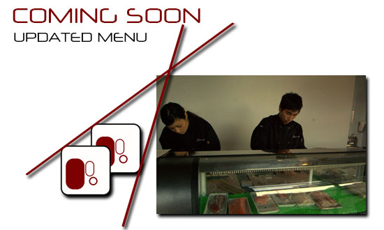 New, Updated Menu Coming Soon!